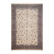 10and0399and039and039 X 15and0397and039and039 Rare Romanian Vintage Hand Knotted Wool Kashaan Area Rug Cream