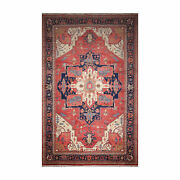 12and0391x 19and0396 Hand Knotted Wool Rare Romanian Herizz Area Rug Terracotta 12x20