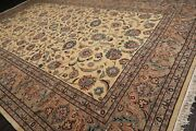 11and0399and039and039 X 18and0393and039and039 Rare Romanian Hand Knotted 100 Wool Saroukk Area Rug Ivory