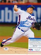Bartolo Colon New York Mets Psa Authenticated Action Signed 8x10