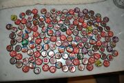 Lot Of Vintage Soda Pop Bottle Cap Collection Some Cork Lined, Some Creased