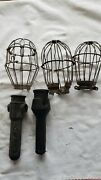 Vtg Light Bulb Guard Lamp Cage Trouble Lights Industrial To Restore