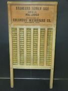 Vintage Maid-rite Wash Board Columbus Washboard Co. Standard Family Size No.2062