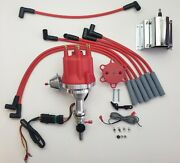 Small Cap Ford Inline 6 170 200 250 Red Hei Distributor + 60k Coil + 8mm Wires
