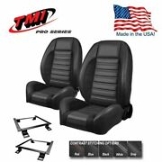 Tmi Pro Series Sport R Bucket Seat Set + Rear For 1981 - 93 Mustang Coupe/sedan
