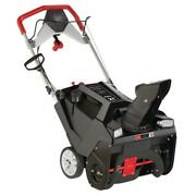 21 In. 208 Cc Electric Start Single-stage Gas Snow Thrower With Headlights
