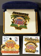 Lot Of 3 San Diego Team Unused Chargers Superbowl Pins With Jewelry Case
