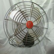 Large Vintage Mcm Wizard Deluxe Electric Fan, Multi-speed, Western Auto Supply