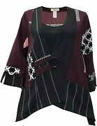 Moonlight Yands Abstract Print One-button Jacket - 2923