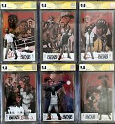 Walking Dead Deluxe 1-6 Variant Cover Set All Cgc 9.8 Signed By Charlie Adlard