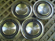 Two Vintage 1964 1965 Lincoln Continental Premier Town Car Hubcaps Wheel Covers