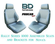 Assembled Seats And Brackets For 1963-1979 Nova 80-1000-52 Rally 1000 Series Scat