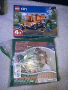Lego City Great Vehicles Garbage Truck 60220 Plus 12 32x32 Green Base Plates