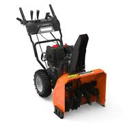 Dual-stage Gas Snow Blower 24 In. Wheel Drive Traction With Electric Start