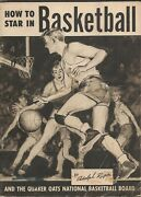 Original Vintage 1948 Quaker Oats Adolph Rupp How To Star In Basketball Book