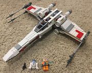 Lego Star Wars X-wing Starfighter 9493 No Stickers Missing Jek Porkins And R5-d8