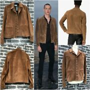 Ultrarare And Gorgeous Saint Laurent Calf Suede Leather Western Jacket