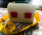 Vintage 80s Iceman/metrokane Lunch Pail/box Bucket Style With Ice Pack And Strap