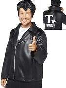Adults T-birds Jacket Fancy Dress Grease Costume 50and039s Danny 1950s Mens