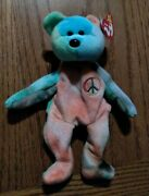 Peace The Bearbeanie Baby, 1996,great Condition Rare Retired