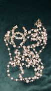 No 5 Cc Logo Pearl And Gold Long Costume Jewelry Necklace