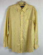 Orvis Menand039s Button-down Wrinkle-free Comfort Shirt Yellow Plaid Size L
