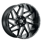 Vision 361 Spyder 22x10 5x139.7 Offset -19 Gloss Black Milled Spokes Qty Of 4