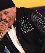Ll Cool J Rock The Bells Letterman Jacket With Real Cowhide Leather Sleeves