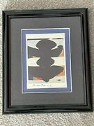Robert Motherwell Hand Signed Offset Lithograph, Elegy To The Spanish Republic