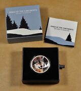 2016 Niue Island 2 Kings Of The Continents Grey Wolf One Ounce Silver Coin