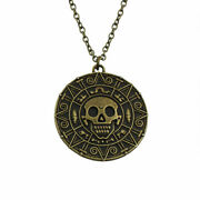Jack Sparrow Aztec Coin Medallion Pirates Of The Caribbean Medal Necklace