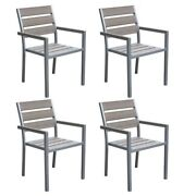 Atlin Designs Patio Dining Chair In Sun Bleached Gray Set Of 4