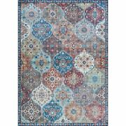 Pasha 5and039w X 8and039l Digitally Printed Lola Area Rug In Multi-color