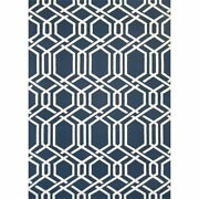 Covington 8and039w X 11and039l Hand-hooked Ariatta Area Rug In Navy