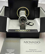 Movado Stainless Steel Kingmatic Midsize Diverand039s Automatic 200m Menand039s Date Watch
