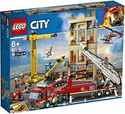 Lego City Town 60216 Downtown Fire Brigade Building Truck Crane Helo New Sealed