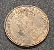 1913 Canada Large One Cent Coin Andndash U N C Andndash Red/brown