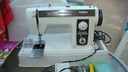 Heavy Duty Vintage Brother Model 2010 Sewing Machine, Case, Manual, Acc