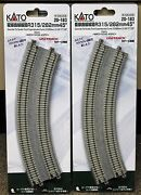 Lot Of 2 N Scale Kato Unitrack 20-183 Dbl Curve Track R315/282mm 45 2 Per Pack