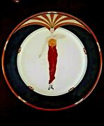 Erte Le Soleil Ebony Mikasa 12 Charger/service Plate Never Displayed Mint