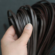 [el] 2 Meters Natural 5mm Flat Leather Jewelry Rope Top Quality