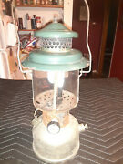 Coleman Nickel And Green Dual Mantle Lantern Date B-50 Sunshine Of The Night