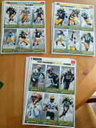 Green Bay Packers 1993 Mcdonalds Gameday Cards 11 Complete Full Sets 33 Sheets