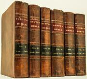 1827 Scottand039s Bible Holy Bible Thomas Scott Old And New Testaments Leather 10 Tall