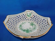 Herend Indiai Patterned Large Serving Plate Green Porcelain