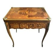 Antique French Rosewood And Marquetry Game Table