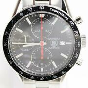 Tag Heuer Carrera Cv2014.ba0794 Automatic Black Silver Stainless Round Men's 165