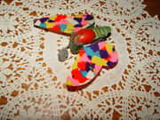 Early Tin Litho Wind-up Butterfly Toy Celluloid Wings Made In Japan Ck Trade Mk