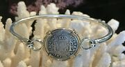Pirate Coin Treasure Piece Of Eight Authentic Spanish 1/2 Reale 14k/ss Bracelet