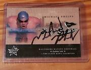 2004 Michael Phelps Leaf Rookies And Stars Fans Of The Game Rc Autograph Ip